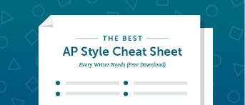 The Best Ap Style Cheat Sheet Every Writer Needs Free Download