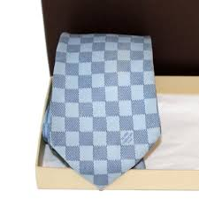 louis vuitton tie. louis vuitton damier blue tie louis vuitton