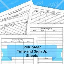 volunteer sign up sheet templates printable volunteer sign up sheets and hours tracker pdf files