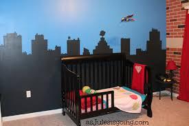 Superhero Boys Room Boys Room Cityscape Wall As Jules Is Going