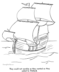 Small Picture History of the Pilgrims Coloring Pages 002