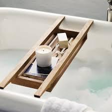 White Wooden Bathroom Accessories Run A Bath Wooden Bath Tidy The White Company Bathroom