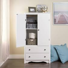 Prepac Monterey White Armoire White Armoire With Drawers A57
