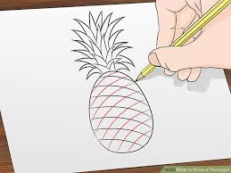 cute pineapple drawing. image titled draw a pineapple step 6 cute drawing