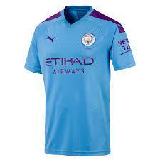 Puma Manchester City Herren Heim Trikot 2019/20 hellblau/violett - Fussball  Shop