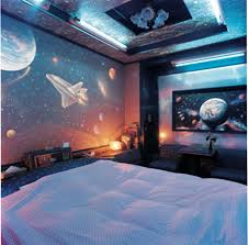 lighting kids room. Outer Space Bedroom Decorating Style For Kids With Unique Ceiling Lighting And Comfortable Bed Frame Room