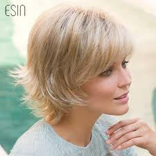 Esin Short Hair Wig Pixie Cut Natural Wavy Fluffy Layered Wigs With