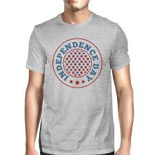 Independence Day American Flag Shirt Mens Grey 4th Of July T Shirt