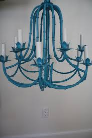turquoise light fixture wild on hold for sarah vintage metal faux bamboo by wwbdesign decorating