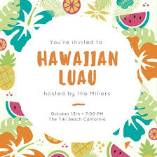 Party Invites Templates Free Luau Party Invitation Template Free Oddesse Info