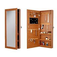 gls lockable mirror jewelry armoire box