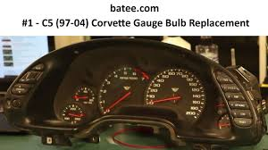 C5 Corvette Bulb Chart 97 04 Corvette Fix 1 Instrument Panel Repair Replace Bulb Gauge Cluster