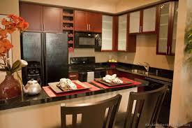 Asian Kitchen Design Prepossessing Ideas Kitchen Cabinets Modern Dark Wood  Sx Island Seats Glass Doors Wine