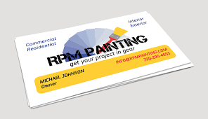 rpm painting business card