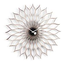 sunflower birch wall clock byvitra