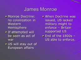 midterm essay topics presidential decisions supreme court  5 james monroe monroe doctrine