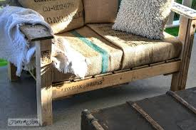 pallet garden furniture for sale. Pallet Lawn Furniture Burlap Coffee Bean Sack Upholstery A Cool Wood Chair Anyone Can Make . Garden For Sale D