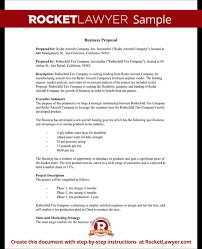 Business Proposal Template Business Proposal Template RFP Response Tips Rocket Lawyer 2
