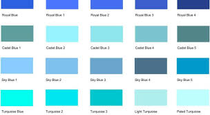 Different Shades of Blue: A List With Color Names and Codes