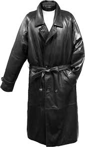wqz613 traditional double ted long coat with rear cape jet black leather