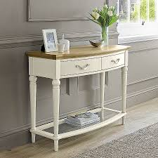 cream console table. Shabby Chic Computer Desks Elegant Furniture Cream Console Table With Storage Drawers