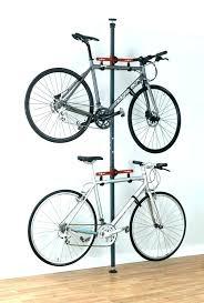 wood bike stands hanging rack bicycle hooks storage wooden garage very simple