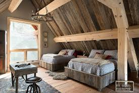 reclaimed wood is the star of this rustic