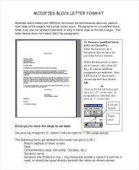 Modified Block Letter Format
