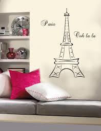 Paris Bedroom Wallpaper Details About Eiffel Tower Paris France Ooh La La Vinyl Wall Mural