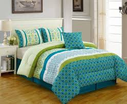 beach style bedroom decor with multi color lime green turquoise inside impressive blue green comforter sets