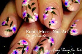 Robin Moses Nail Art: Lavender Spring Flower Nail art Design ...
