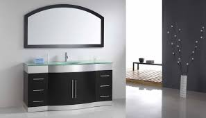 Curved Bathroom Vanity Cabinet Bathroom Vanities With Cabinet In The Middle Mid Continent