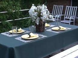 patio tablecloth amazing outdoor tablecloths round