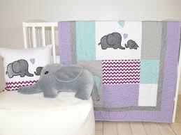 elephant baby quilt gray purple teal crib bedding purple chevron elephant blanket safari nursery