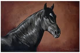 black acrylic paint beautiful black horse acrylic painting by ooblacknightingaleoo on