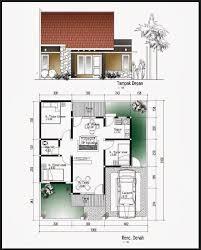 denah rumah 1 lantai 3 kamar: Denah rumah minimalis 1 lantai 3 kamar tidur dan garasi rumah