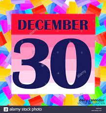 Date December 30 Banque d'image et photos - Alamy