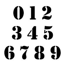 Number Stencil Font Ccn0071 Stencil Font Numbers Stencils Buy This Stencil Fon Flickr