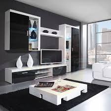 wall unit furniture living room. Modern Wall Unit Display Living Room High Gloss Led Furniture Set N