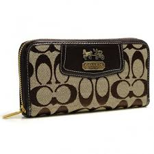 ... Coach Logo In Signature Large Coffee Wallets g1389 ...