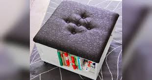 diy crate storage ottoman is a table seating and more