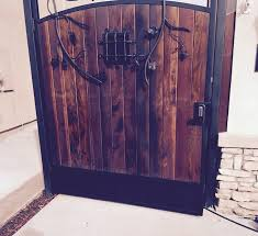 ornamental iron gate wood iron gates with wood57