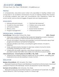 Work Resume Example Beauteous Social Worker Resume Example Elementary School Children