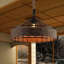 vintage america country iron edison rope pendant lights vintage restaurant lamp industrial hemp pendant lamps rope light ceiling pendant pendant lighting