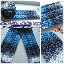 Free Crochet Patterns For Scarves Best Crochet Patterns Galore Star Fish Stitch Scarf