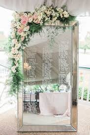 Mirror Wedding Seating Chart Mirror Wedding Seating Chart Ideas With Floral Decorated