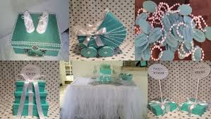 Baby Shower Centerpieces  Tiffany Co Inspired Box  Tiffany Blue Tiffany And Co Themed Baby Shower