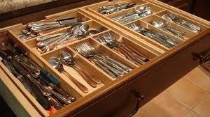 Image of: wood kitchen drawer organizer