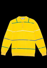 ing awesome ing awesome stripes knit rugby shirt yellow