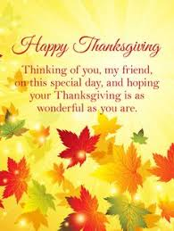 10 Best Thanksgiving Cards For Friends Images Anniversary Greeting
